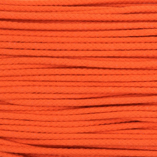 Double Woven Cotton Cord (5 mm):  Orange