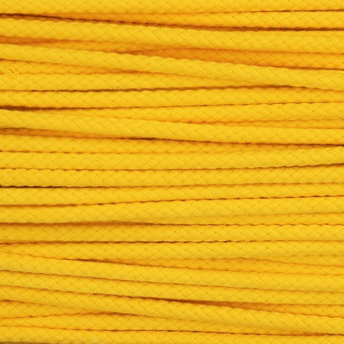 Double Woven Cotton Cord (5 mm):  Yellow