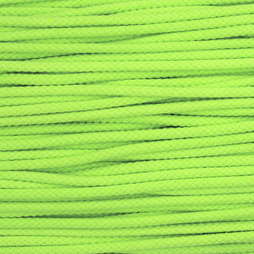 Double Woven Cotton Cord (5 mm):  Lemon Lime