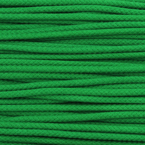 Double Woven Cotton Cord (5 mm):  Green