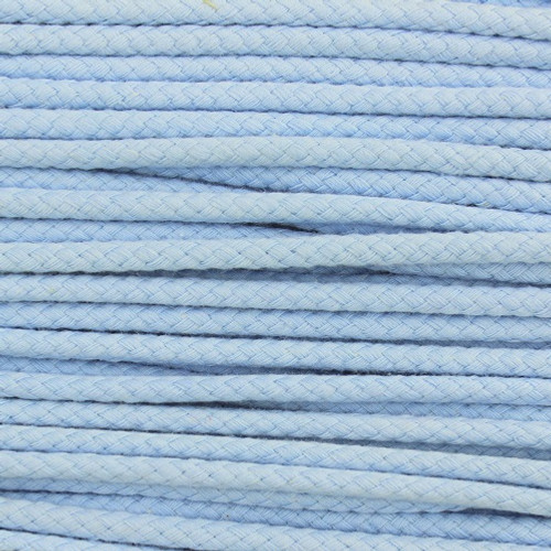 Double Woven Cotton Cord (5 mm):  Light Blue