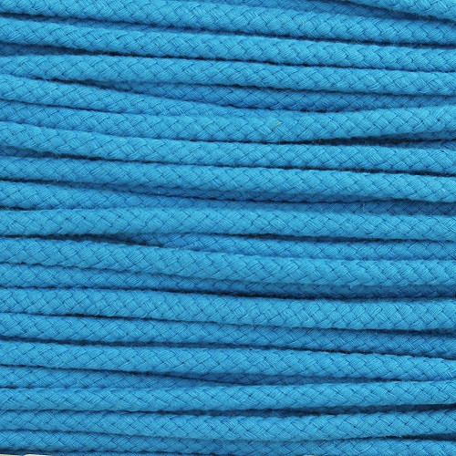 Double Woven Cotton Cord (5 mm):  Aqua