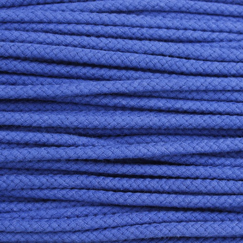 Double Woven Cotton Cord (5 mm):  Royal Blue