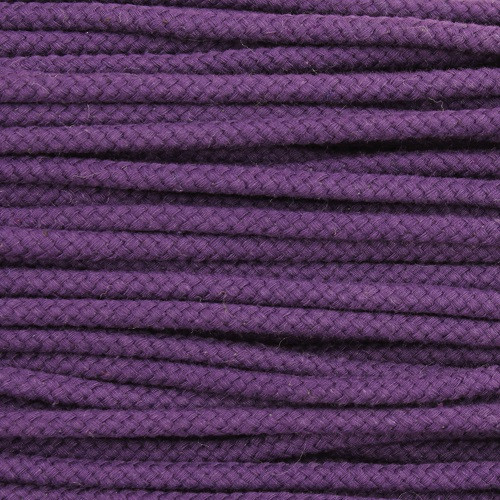 Double Woven Cotton Cord (5 mm):  Purple
