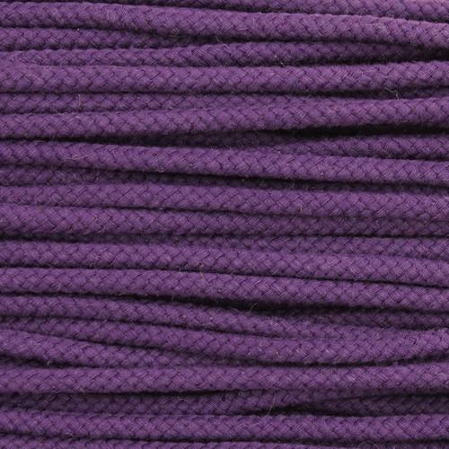 Double Woven Cotton Cord (5 mm):  Purple