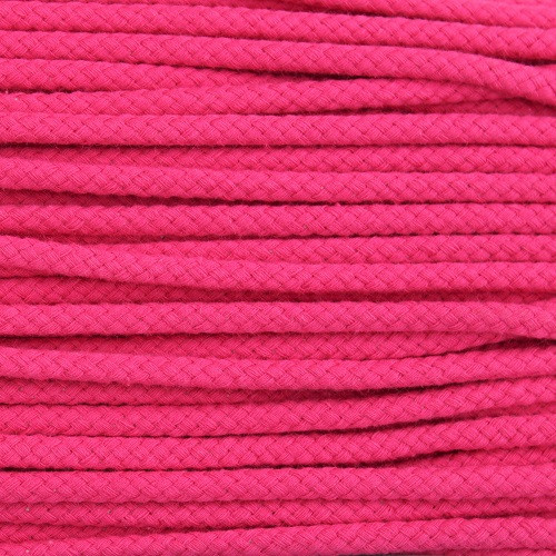 Double Woven Cotton Cord (5 mm):  Fuchsia