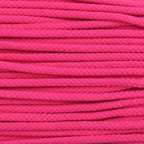 Double Woven Cotton Cord (5 mm):  Fuchsia