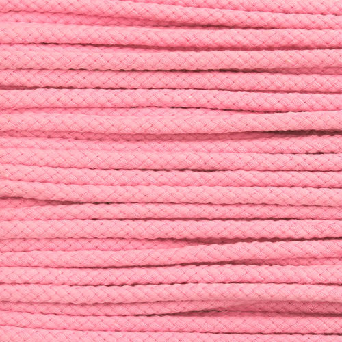 Double Woven Cotton Cord (5 mm):  Pink