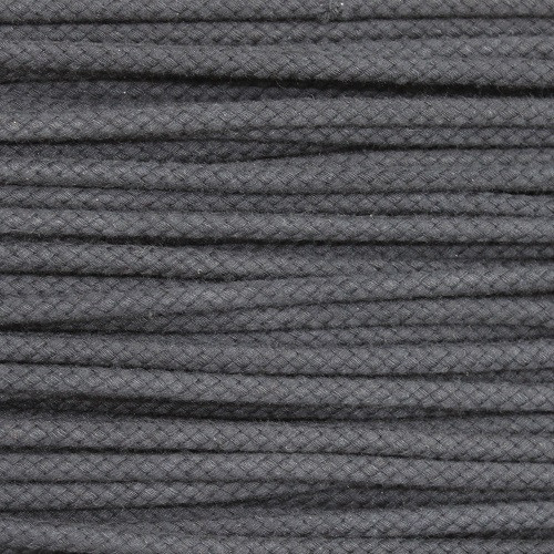 Double Woven Cotton Cord (5 mm):  Dark Grey
