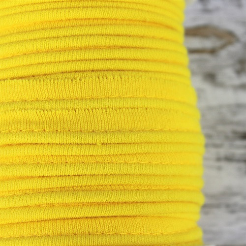 Cotton Knit Piping:  Yellow