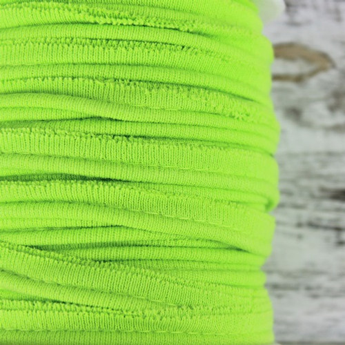 Cotton Knit Piping:  Lime