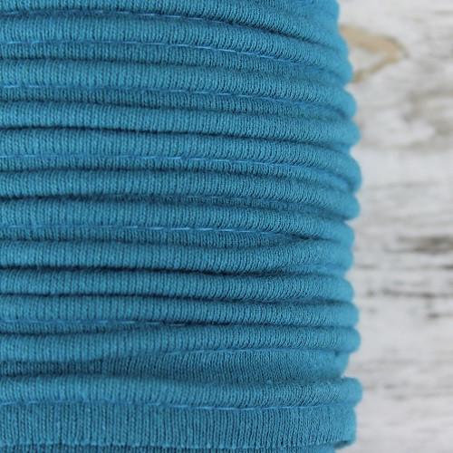 Cotton Knit Piping:  Petrol