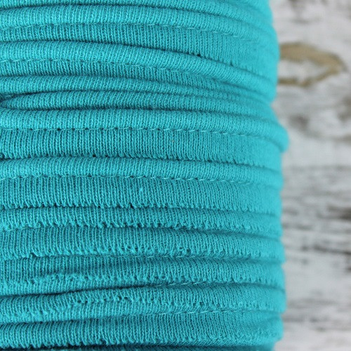 Cotton Knit Piping:  Teal