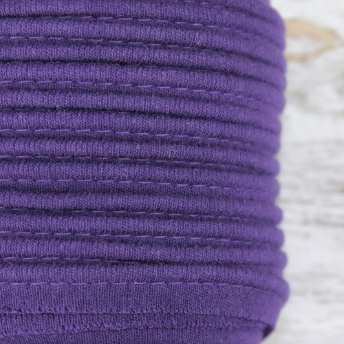 Cotton Knit Piping:  Purple