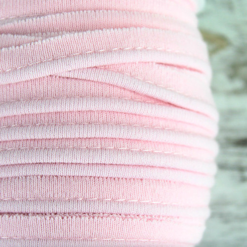 Cotton Knit Piping:  Light Pink