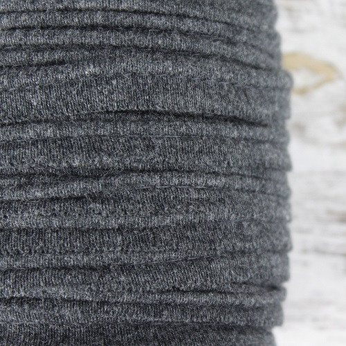Cotton Knit Piping:  Granite