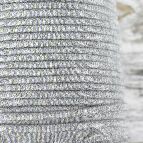 Cotton Knit Piping:  Light Mottled Grey