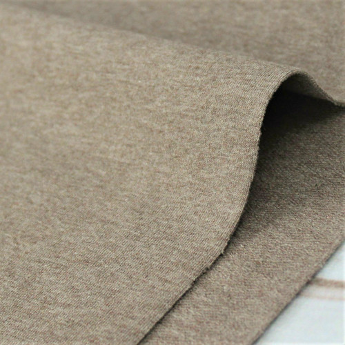 Maike:  Heathered French Terry, Brown