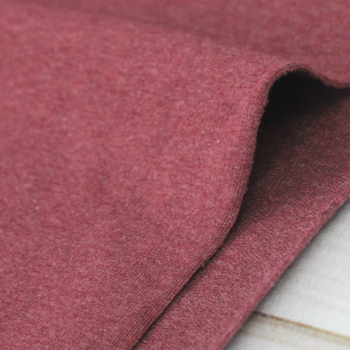 Maike:  Heathered French Terry, Bordeaux