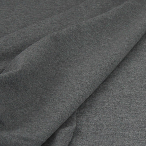 Eike: Brushed Heathered Sweatshirt, Meduim Grey