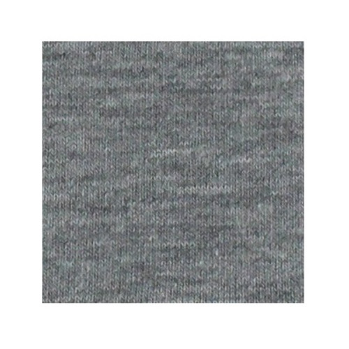ORGANIC!  Heathered Light Grey:  Brushed French Terry, GOTS