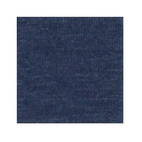 ORGANIC!  Heathered Indigo:  Brushed French Terry, GOTS