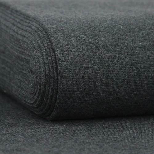 Heike: Heathered Ribbing, Dark Grey