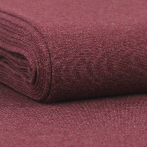 Heike: Heathered Ribbing, Bordeaux