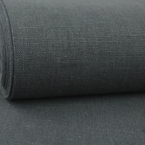 Linen 230g Enzyme Washed:  Dark Grey
