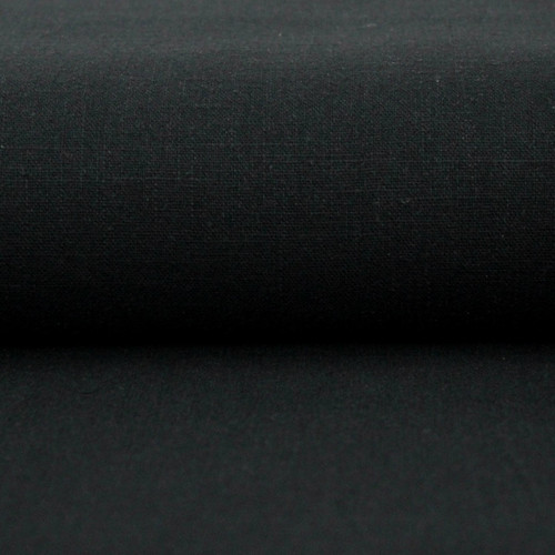 Linen 230g Enzyme Washed:  Black