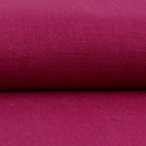 Linen 230g Enzyme Washed:  Cherry