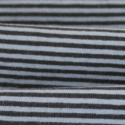 2 mm Yarn Dyed Stripes:  Light Blue & Navy