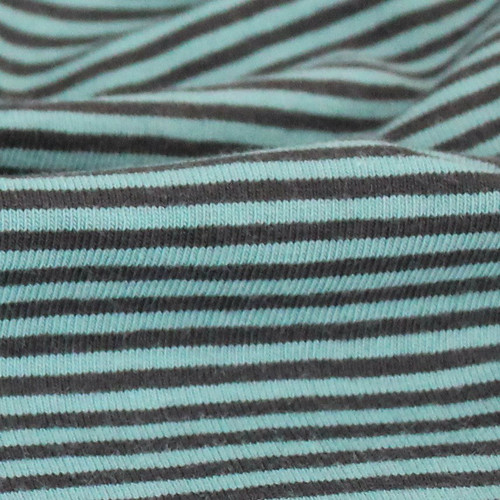 2 mm Yarn Dyed Stripes:  Petrol