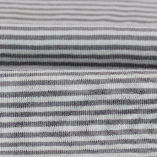 2 mm Yarn Dyed Stripes:  Grey