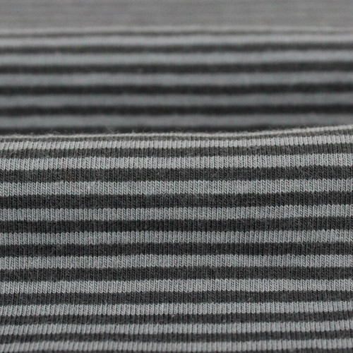 2 mm Yarn Dyed Stripes:  Dark Grey