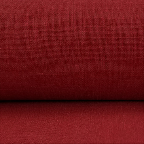 Linen 230g Enzyme Washed:  Apple Red