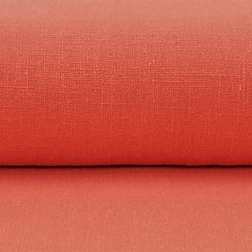 Linen 230g Enzyme Washed:  Coral