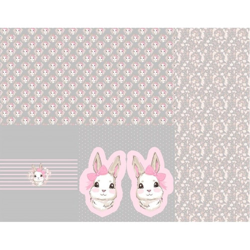 Baby Bunny, Grey: Baby Layette Rapport Jersey Knit, by Stenzo  (approximately 1 meter)