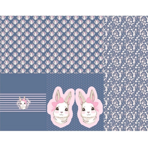 Baby Bunny, Denim Blue: Baby Layette Rapport Jersey Knit, by Stenzo  (approximately 1 meter)
