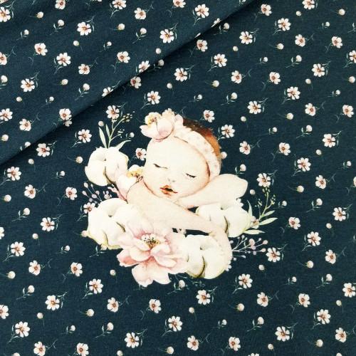 For Newborns, Navy: Rapport Digital Jersey Knit Stenzo