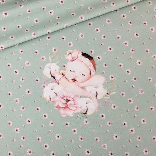 For Newborns, Green: Rapport Digital Jersey Knit Stenzo