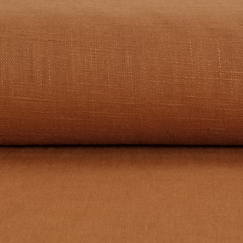 Linen 230g Enzyme Washed:  Rust