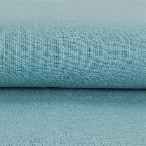 Linen 230g Enzyme Washed:  Spruce Blue