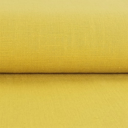 Linen 230g Enzyme Washed:  Golden Yellow