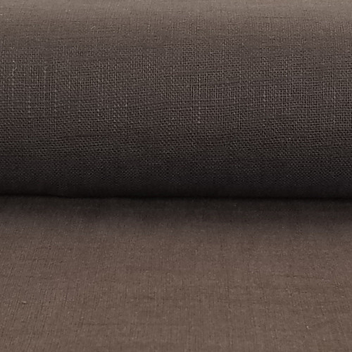 Linen 230g Enzyme Washed:  Chocolate Brown