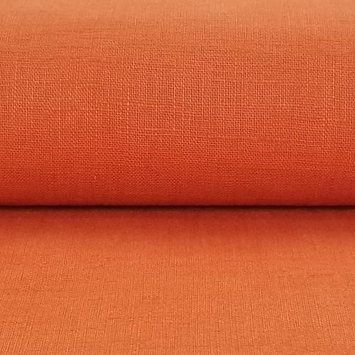 Linen 230g Enzyme Washed:  Pumpkin