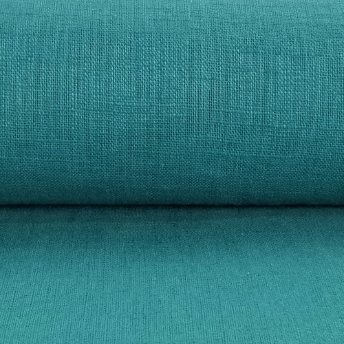 Linen 230g Enzyme Washed:  Teal
