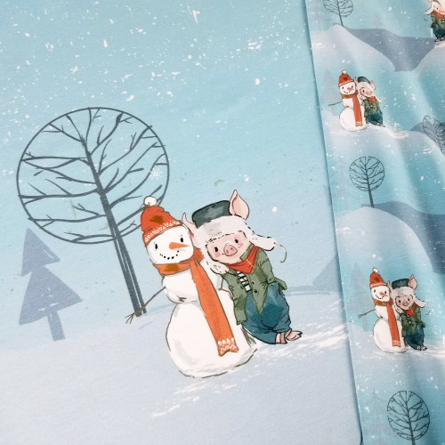 Winter Play: Rapport Digital Jersey Knit, (approximately 60 cm)