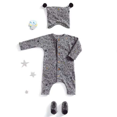 Bodysuit, Hat, and Booties: Paper Sewing Pattern from Katia