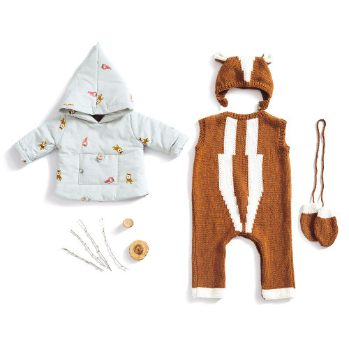 Anorak Jacket & Knitted Bodysuit and Hat: Paper Sewing Pattern from Katia